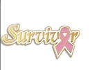 Survivor Breast Cancer Ribbon Pin, For Events