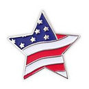 Flag Star Pin for Patriotic Event