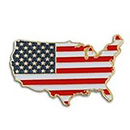 Patriotic USA Pin, Size 1.25 Inch