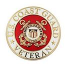 U.S. Coast Guard Veteran Pin, Size 1 Inch