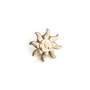 Stock Sun Face Lapel Pin with Butterfly Attachment, 25PCS/Pack