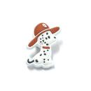 Firefighter Dalmatian Dog Stock Design Plastic Lapel Pin, 6PCS/Pack