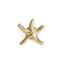 Stock 3D Cast Golden Starfish Lapel Pin, 25PCS/Pack, 3/4