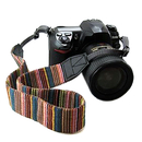 Blank Colorful Camera Strap Bohemia Shoulder Neck Universal Camcorder Belt Strap for All DSLR/SLR, 24-2/5