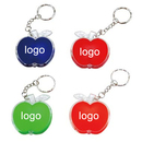 Custom Apple Shape Keychain with Led Light, 2