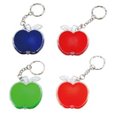Blank Apple Shape Keychain with Led Light, 2