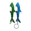 Custom Shark Bottle Opener with Key Chain, Silk Printed, 4 1/4