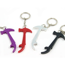 Custom Hammer Bottle Opener with Key Chain, Silk Printed, 2 7/8