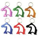 Custom Horse Head Bottle Opener with Key Chain, Silk Printed, 2 1/4