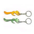 Custom Squirrel Shaped Bottle Opener with Keychain, Silk Printed, 2.55