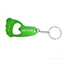 Custom Foot Shaped Bottle Opener with Keychain, Silk Printed, 2.25