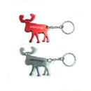 Custom Reindeer Shaped Bottle Opener with Keychain, Silk Printed, 2.15
