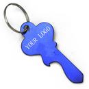 Customized Classic Large Key Shape Aluminum Bottle Opener With Keychain, Laser Engraved