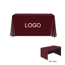 Custom Open Back Flat 3 Sides Table Cover Fits 6ft Table