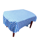 Premium Rectangle Gingham Plastic Table Cover, Checkered Disposable Table Cloth, 54