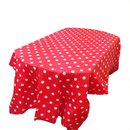Heavy Duty Rectangle Polka Dots Plastic Table Cover, Disposable Table Cloth, 54