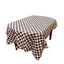 Heavy Duty Rectangle Checkered Plastic Table Cover, Disposable Table Cloth, 40