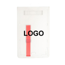 Custom Premium Frosted Rigid Plastic Vertical Badge Holder with Easy Access Slide Ejector, 2.125