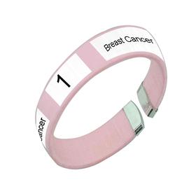 Custom Awareness Ribbon Plastic Bracelet, Small Size, Price/Piece