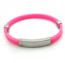 Blank Metal Silicone Bracelet