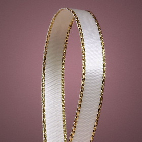 "Gold Edge Satin Ribbons, 3/8"" Wide by 50 Yards"