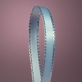 "Oparty Silver Edge Satin Ribbon, 1/4"" Wide by 50 Yards"