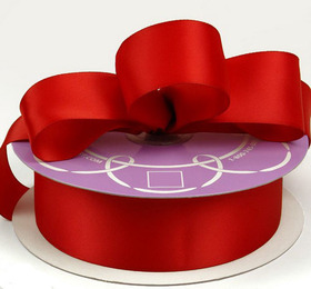 "Oparty 7/8"" by 50 Yards Double Face Satin Ribbon - Red"