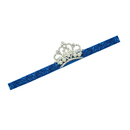 Alice Toddlers' Glitter Headband with Rhinestones Crown and Peals, Nice Hair Band for Girls