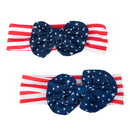 Alice Mommy and Baby's Headband Set, US Flag Big Bow Hair Bands - Wholesale
