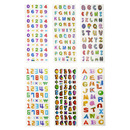 Aspire Alphabet & Number Puffy Sticker, Mixed Dimensional Sticker Variety Pack, Great for Teaching, Wholesale Lot