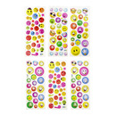 Aspire Smiling Face Puffy Sticker, Assorted Dimensional Sticker Pack, Wholesale Lot