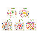 Aspire Stickers Assortment, Apple shaped Dimensional Sticker, Party Favors, Wholesale Lot