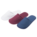 Opromo Unisex Cotton Cloth Hotel Spa Slippers Slip On Indoor House Guest Shoes