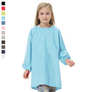 Opromo Long Sleeved Waterproof Art Smock, Kids Smock with One Front Pocket, Nylon/Polyester Material