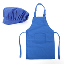 (Price/12 Sets) Opromo Colorful Cotton Canvas Kids Aprons and Hat Set, Party Favors(S-XXL)