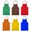 "Opromo 2-Pack Standard Bib Apron with Two Pockets, 23.5""W x 28""L"
