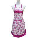 Opromo Ladys Fashion Floral Ruffled Apron with One Front Pocket, 30