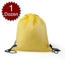 (Price/1 Dozen) Opromo Durable Non-Woven Sports Drawstring Backpack/Shoe Bags, 14