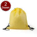 (Price/2 Dozens) Opromo Durable Non-Woven Sports Drawstring Backpack/Shoe Bags, 14