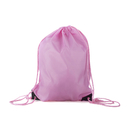 Opromo Durable Nylon Drawstring Backpack with PU Reinforced Corners, 13