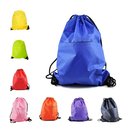 Opromo 12-Pack Polyester Water-Repellent Drawstring Backpack with Front Zipper