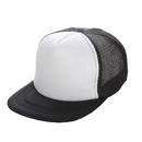 Opromo Two Tone Flat Bill Mesh Trucker Cap, Summer Cap with Adjustable Snapback Strap