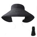 Opromo Women Girls Foldable Rollable Roll Up Wide Brim Sun Visor Beach Straw Hat