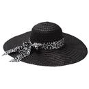 Opromo Women Large Wide Brim Floppy Derby Hat Beach Sun Visor Shade Straw Hat