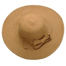 Opromo Foldable Roll up Wide Brim Womens Beach Cap Bowknot Floppy Straw Sun Hat