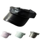 Opromo Kids Faux Leather Sun Visor Cap Hat Child Sports Outdoor Plain Cap