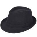 Opromo Unisex Classic Short Brim Manhattan Structured Gangster Trilby Fedora Hat
