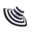 Opromo Women's Summer Beach Sun Hat Foldable Roll Up Floppy Wide Brim Straw Hat