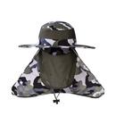 Opromo Unisex Fishing Hat Mesh Bucket Hat UPF 50+ Protection Neck Face Flap Hat