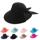 Opromo Wide Brim Summer Flap Cap UV Sun Protection Hat with Neck Cover for Women